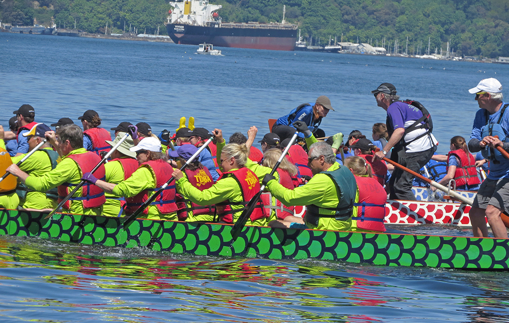 Photo of dragon boat race in Tacoma